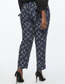Kady Fit Printed Crepe Pant Dots Full Of Sunshine