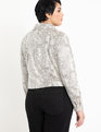 Snake Print Moto Jacket Neutral Snake