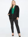 9-to-5 Stretch Work 2 Button Blazer Black