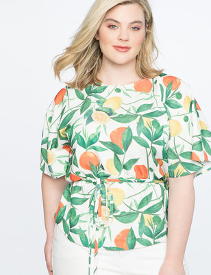Printed Dolman Sleeve Top
