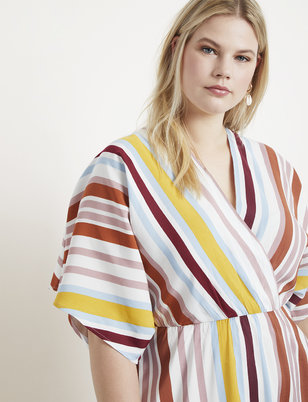 Striped Dolman Sleeve Dress