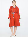 Studio Embroidered Sleeve Dress FIRE CORAL