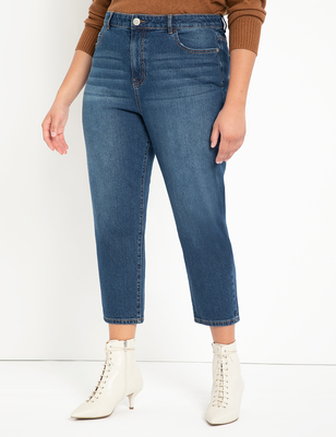Stretch Denim Mom Jean