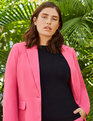 Long Single-Button Blazer Starstruck Pink