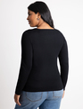 Cutout Neckline Sweater Totally Black