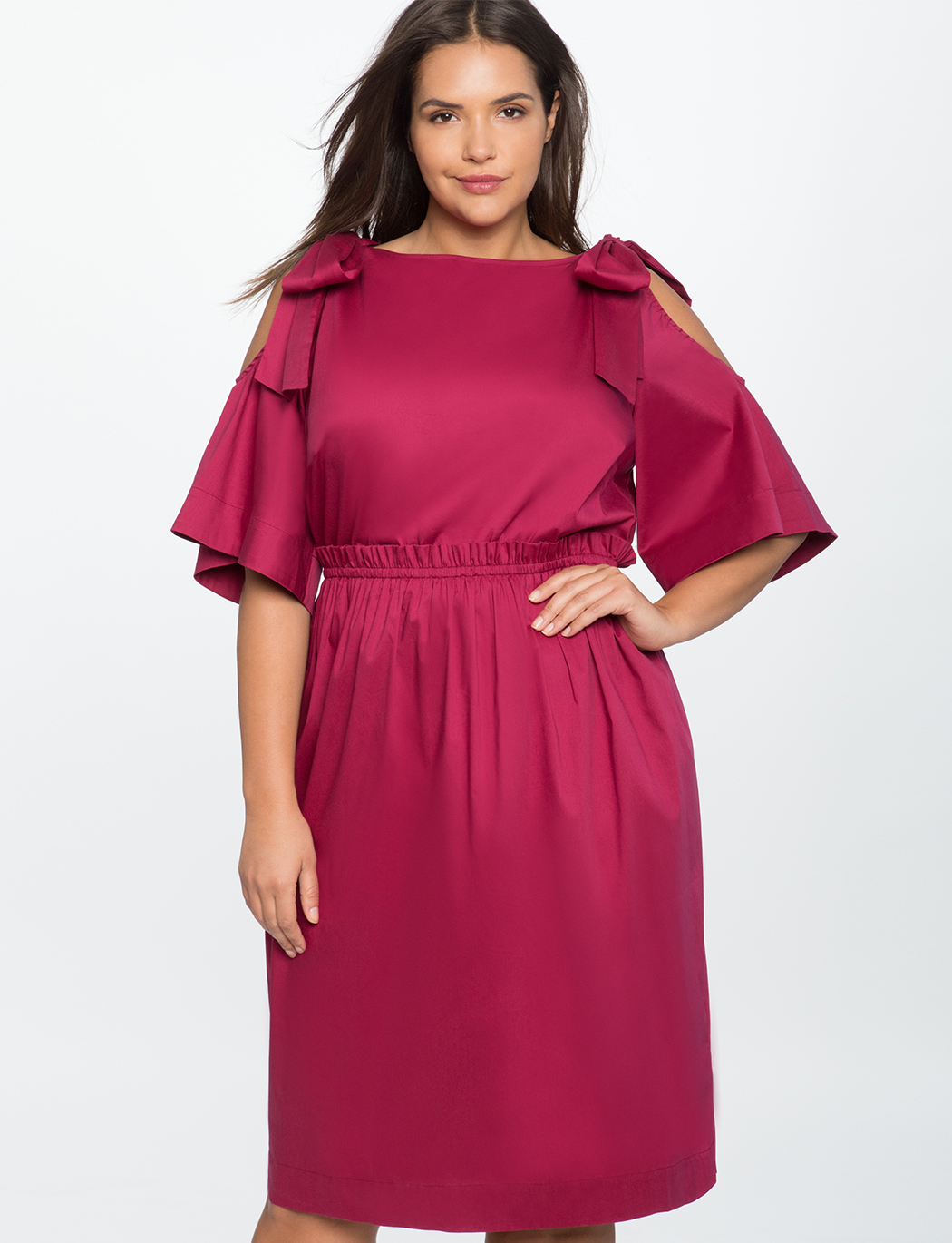 05ec204a134 Bow Tie Cold Shoulder Dress