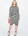 Blocked Stripe Dress Black + Soft White