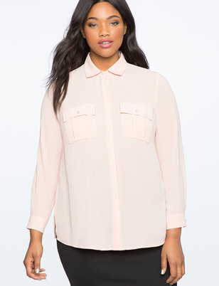 Pearl Button Down Blouse