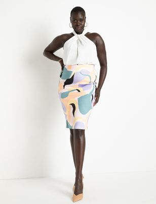 Neoprene Pencil Skirt
