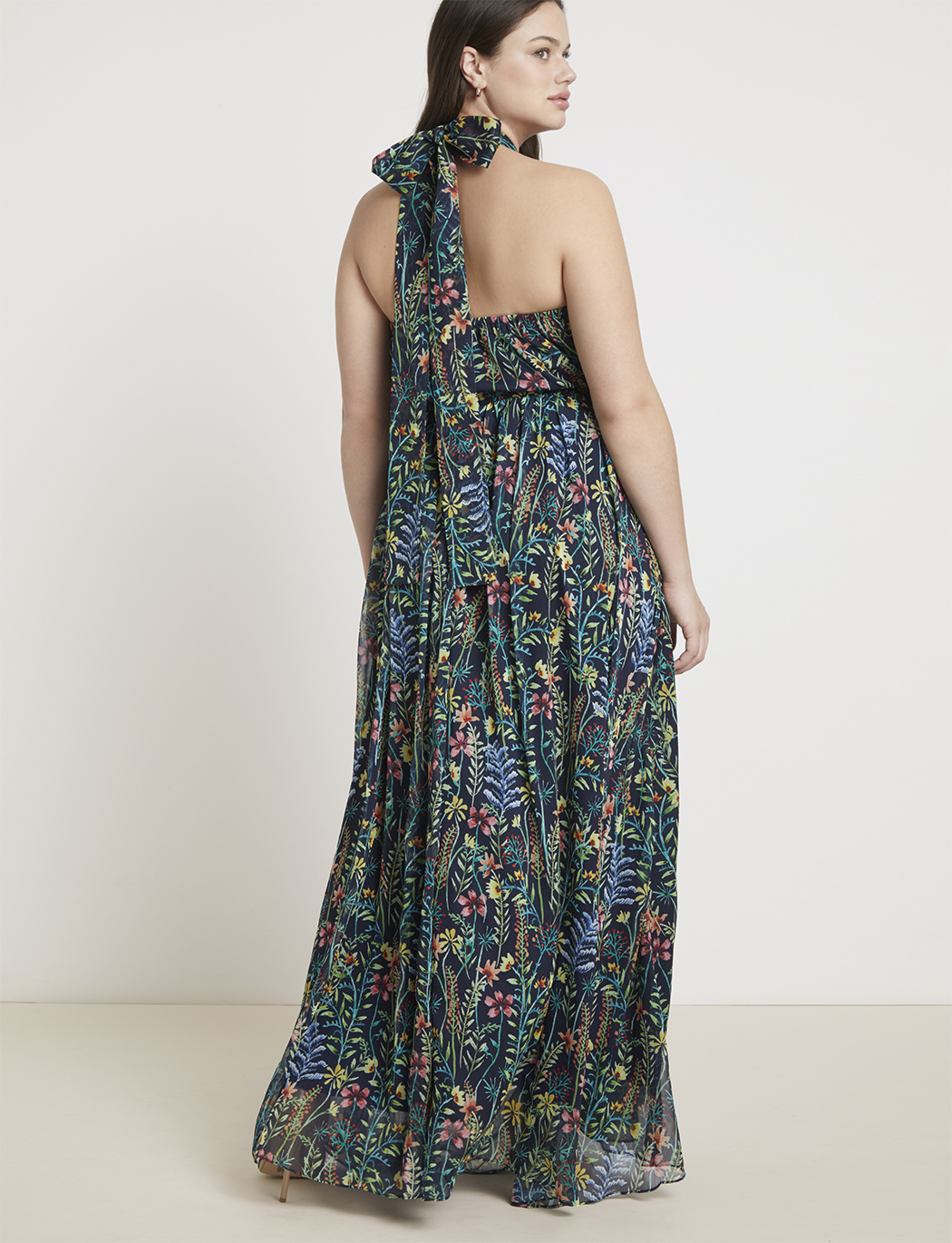 Jason Wu/ELOQUII Halter Maxi Dress