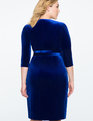 Velvet Wrap Dress BRIGHT BLUE