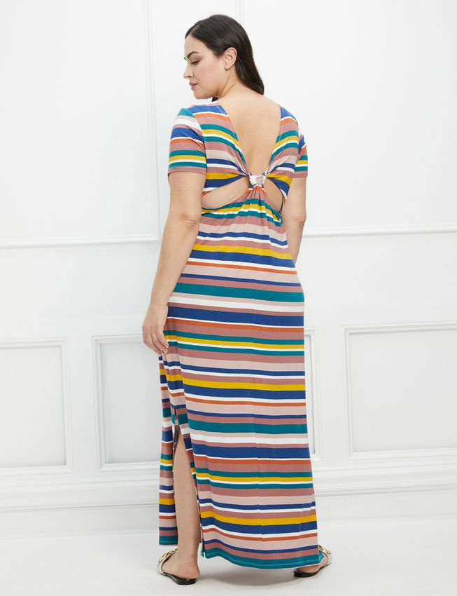 ELOQUII Elements Twist Back Midi Dress