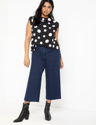 High Waisted Crop Jean