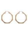 Octagon Hoop Earrings Gold