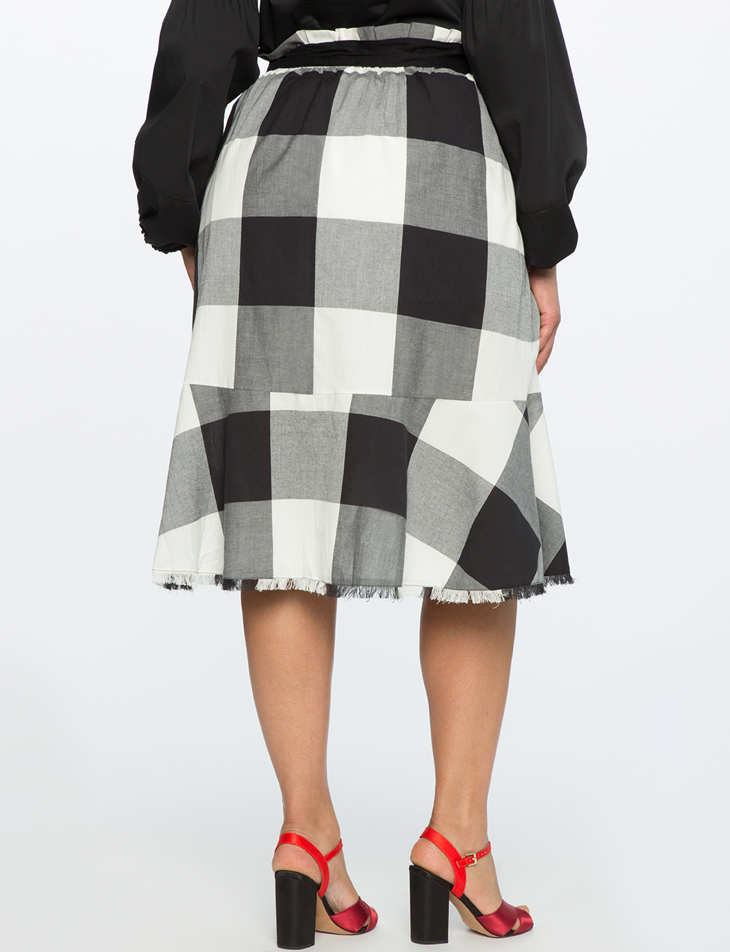 bcd7eb7ea88 Plaid Ruffle Skirt with Paper Bag Waist