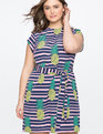 Printed Easy Tee Dress