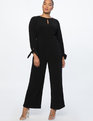 Wide Leg Jumpsuit with Tie Totally Black