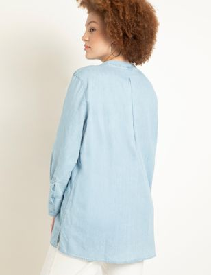 Denim Pullover Long Sleeve Tunic