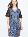 Studio Printed Dress with Lace Sleeves MIRACLE FRUIT print