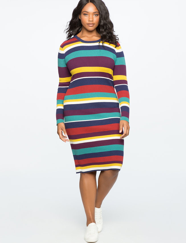 Rib Knit Sweater Dress Womens Plus Size Dresses Eloquii
