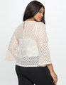 Flare Sleeve Lace Top Pearl
