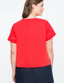 Embroidered Tee FLAME SCARLET
