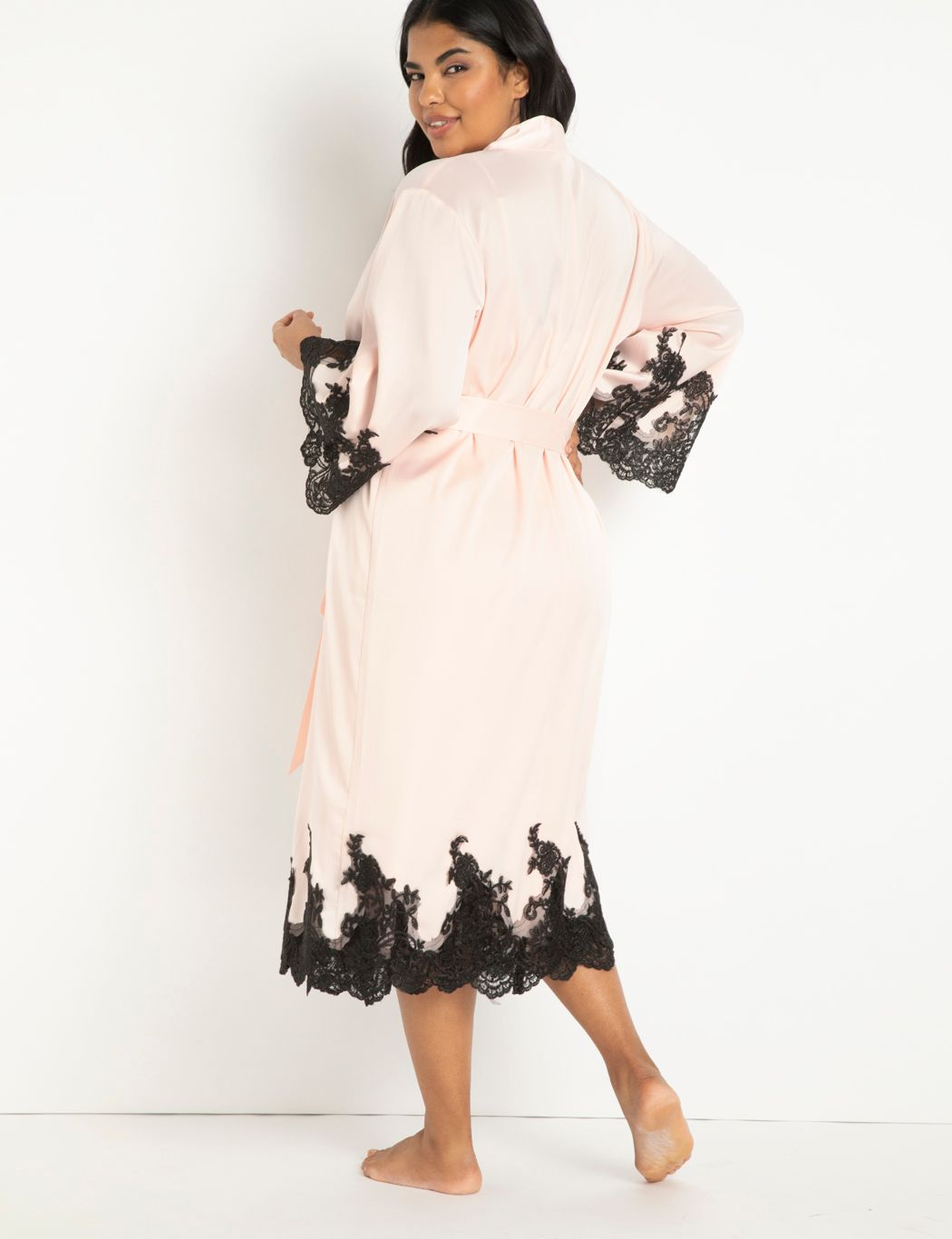 Lace and Satin Duster