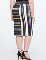 Neoprene Pencil Skirt SMALL WONDERS STRIPES