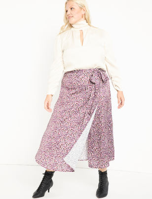 Wrap Skirt with Yoke