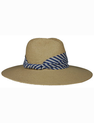 Hat Attack Wide Stripe Fedora