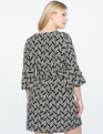Printed Flared Sleeve Dress GRAPHIC JAM