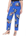 Kady Fit Printed Crepe Pant Paradise Floral Blue Ground