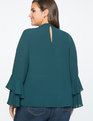 Dramatic Sleeve Top Verdant Forest