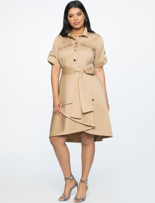 Fit And Flare Dress With Draped Skirt by Eloquii