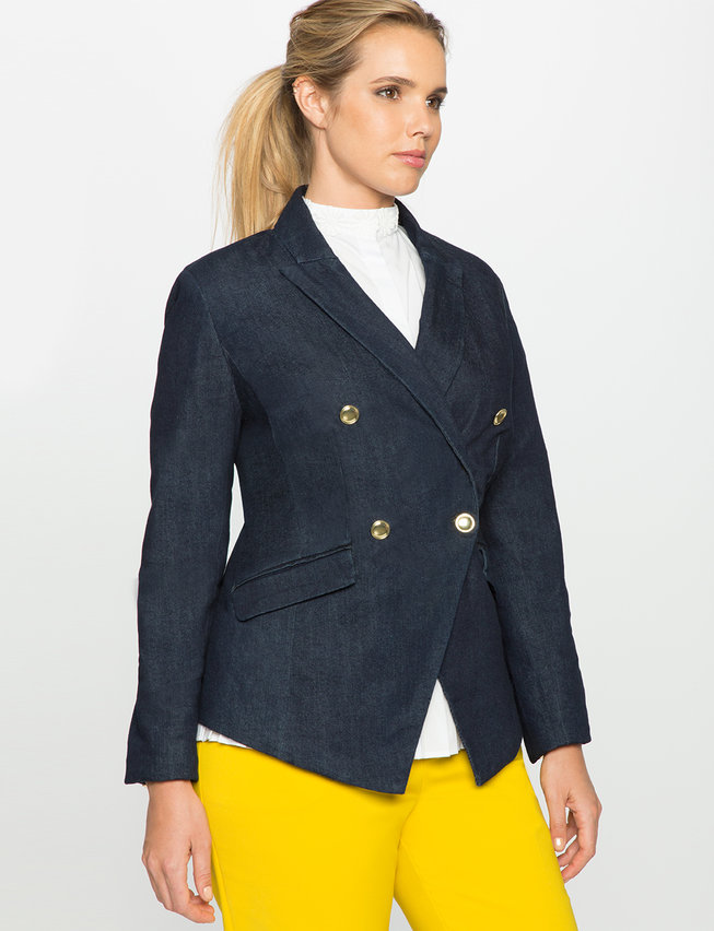 Refined Denim Military Blazer