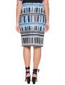 Abstract Printed Pencil Skirt Stilnovo Print