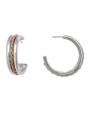 Chain Detail Hoop Earrings