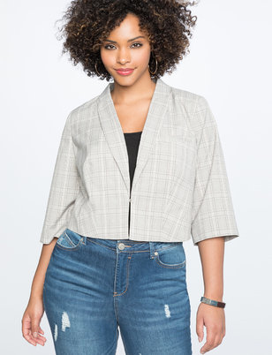 Plaid Cropped Blazer