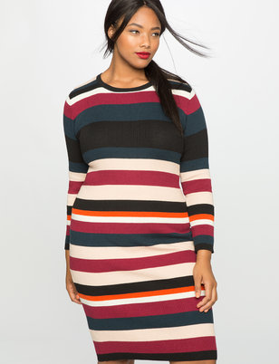 Rib Knit Sweater Dress