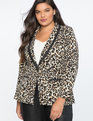 Leopard Suit Blazer Speckled