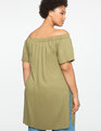 Studio Off the Shoulder Tunic with Vent Olive