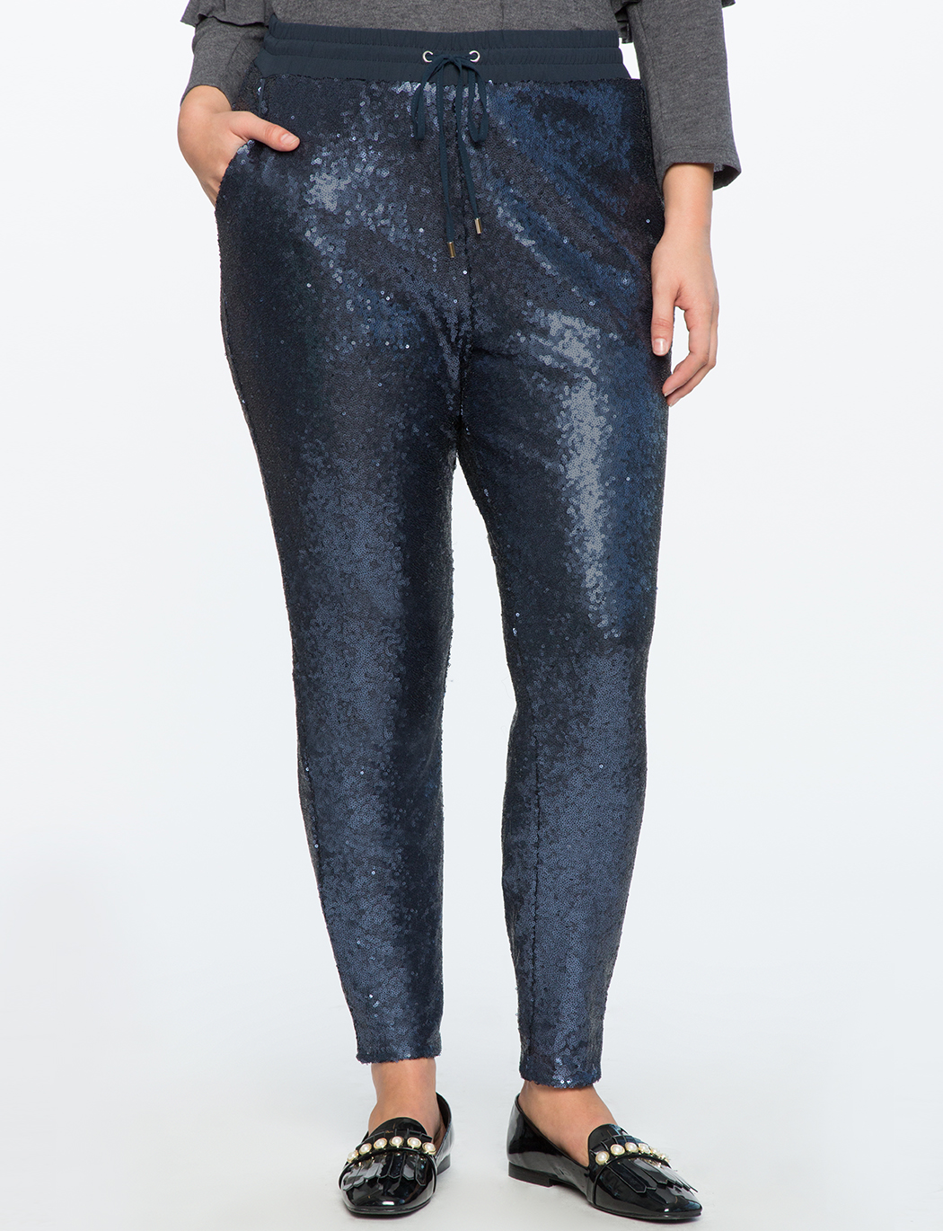 Sequin Pull On Pant