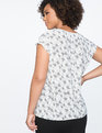 9-to-5 Short Sleeve Draped Blouse Owlbert Einstein