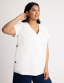 Tunic with Side Buttons Soft White