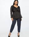 Drape Front Tunic Totally Black