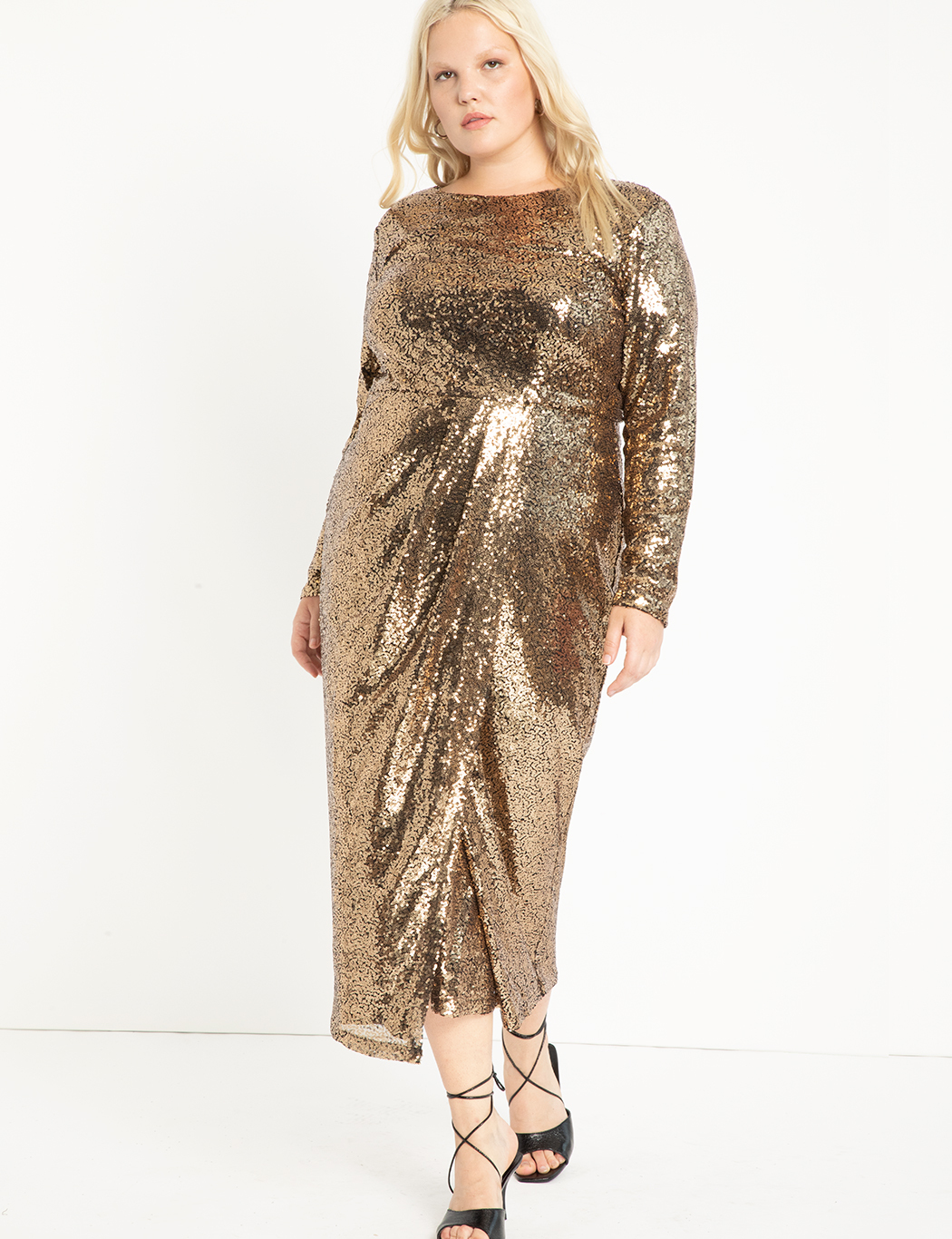 c309487e3f6 Sequin Maxi Dress with Wrap Skirt