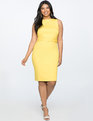 Belted Sheath Dress SUPER LEMON