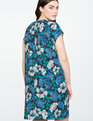Easy Tee Dress BLOSSOMS UP BLUE