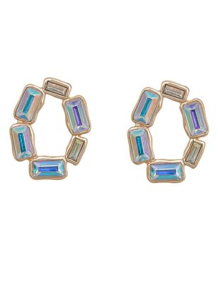 Iridescent Jeweled Stud Earrings