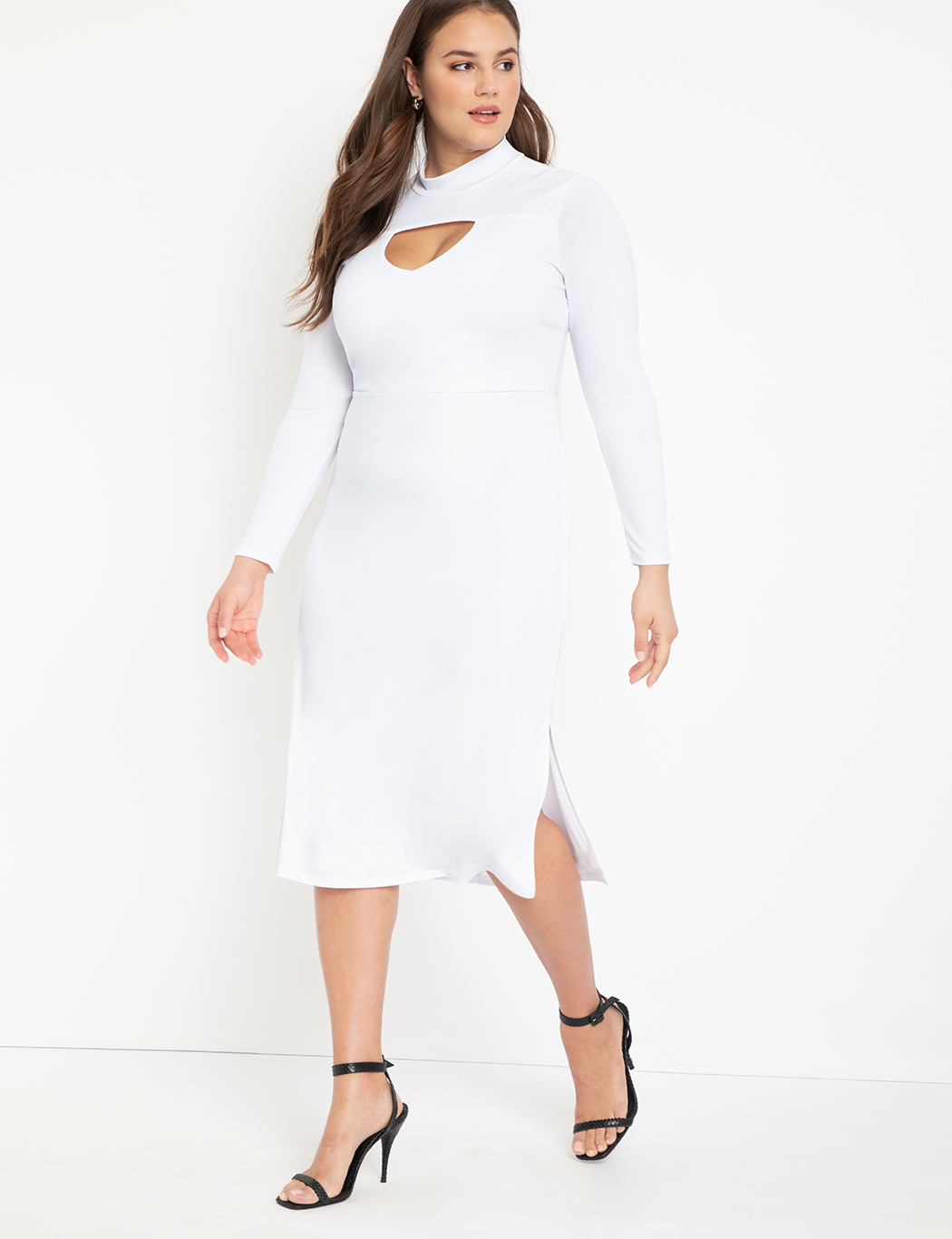 Turtleneck Dress with Cutout